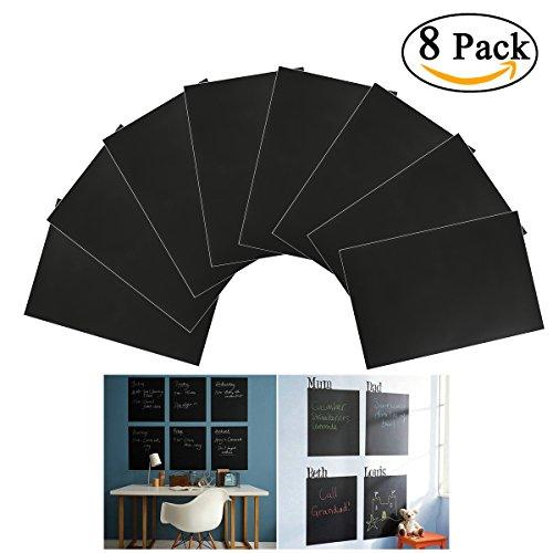 nuolux-8pcs-a4-tableau-noir-ardoise-sticker-amovible-autocollant-sticker-mural-avec-1-craie-noir