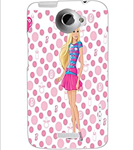 PrintDhaba Beautiful Girl D-1180 Back Case Cover for HTC ONE X (Multi-Coloured)