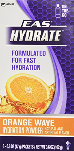eas-hydrate-stickpack-workout-hydration-powder-orange-wave-06-oz-each-6-count-by-eas