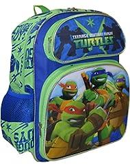 """TMNT Ninja Turtles Tough Guy Deluxe 3D Embossed 14"""" School Backpack"""