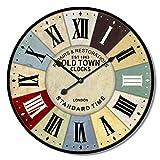 "Extra Large Retro Shabby Chic Wall Clock - 60cm (23""+) Diameter - HLZ.1F014"