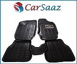 Carsaaz 3D Black Foot Mats For Fiat Linea (Set Of 5 Pcs)