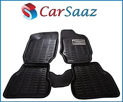 Carsaaz-3D-Black-Foot-Mats-For-Skoda-octavia-(Set-Of-5-Pcs)