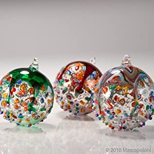 Click to buy Italian Christmas decorations   :  Murano glass ornament from Amazon!