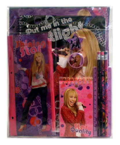 Disney's Hannah Montana School Stationary Set; (Miley Cyrus) School Supplies; Great Gift Idea for Girls