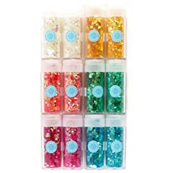Martha Stewart Crafts Iridescent Hearts & Stars Glitter Set By The Package