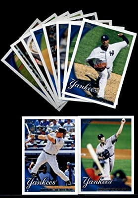 2010 Topps Baseball Cards Complete TEAM SET: New York Yankees (Series 1 & 2) 21 Cards Including Mickey Mantle, Derek Jeter, Alex Rodriguez, Babe Ruth/ Lou Gehrig, Hideki Matsui, Andy Pettitte, Mark Teixeira, CC Sabathia & More!