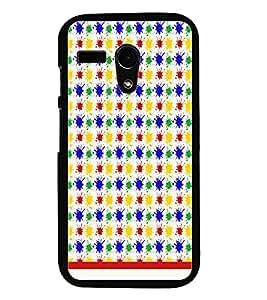 PrintDhaba Pattern D-1136 Back Case Cover for MOTOROLA MOTO G (Multi-Coloured)