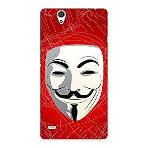Stylish Red Anonymous Mask Back Case Cover for Sony Xperia C4