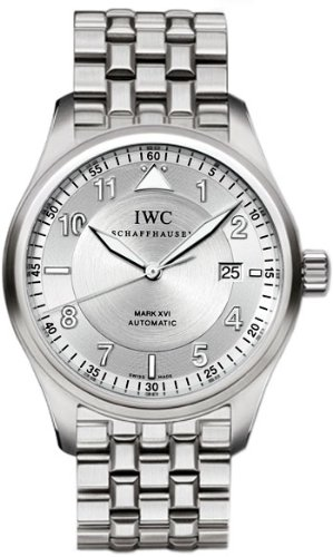 IWC Spitfire Pilot Mark XVI Steel Mens Watch IW325505