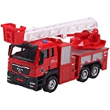 Aivtalk Construction Vehicle Pull Back Action Car Model Toys Carrier Model Truck Toys For Boys Red