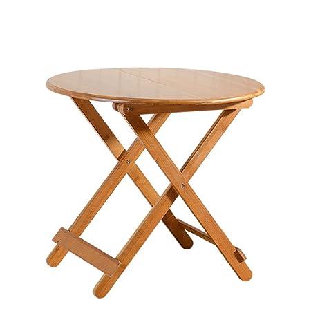 Table pliante / Table portative / Petite table de ménage / Table de salle à manger simple / Table ronde en bois massif / Table pliante (Taille en option) ( taille : 4# )