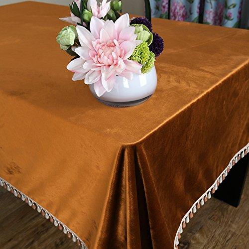 Hctina Manteles Alfombrilla Comedor Mesa De Café Paño Solid-Colored Peluches Naranja 140*260Cm