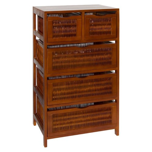 Organize It All Willow 5-Drawer Storage Chest front-114242