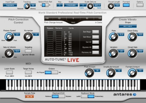 Antares Audio Auto-Tune Live  Full-Featured Automatic
