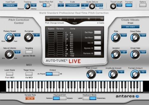 Antares Audio Auto-Tune Live  Full-Featured Automatic