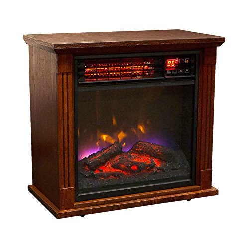 Electric Fireplace Realistic LED Flames - Mounting Hardware & Remote Control Included - Great for Living Room, Family Room, Bedroom & More (1500W Electric Fireplace) (Led Fireplace Stand compare prices)