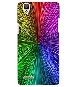 PrintDhaba Rainbow Colours D-2277 Back Case Cover for OPPO F1 (Multi-Coloured)