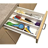 2 Snap Fit Drawer Dividers Kitchen Organizer Universal Silverware Tools Junk Pen