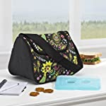 Costa Mesa Insulated Designer Lunch Bag with Ice Pack - Purple / Green Paisley