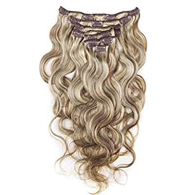 Moresoo 100% Unprocessed Body Wave Virgin Remy Human Hair Clip In Hair Extensions Full Head Set