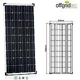 100 Watt Solarmodul Monokristallin 12V - Solarpanel Solaranlage Solarzelle / Offgridtec