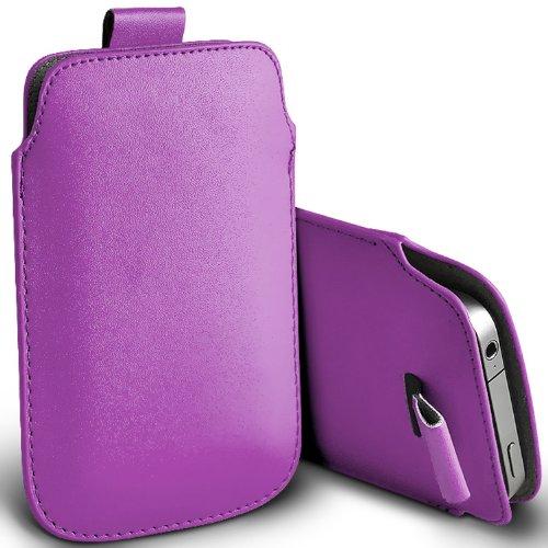 ( Purple ) Samsung Rex 60 C3312R Schutzkunstleder Pull Tab stilvolle Einbau Beutel-Kasten-Abdeckung Haut durch Spyrox