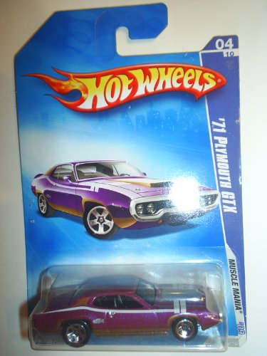 Hot Wheels '71 Plymouth Gtx Purple #4 0f 10 '09 Muscle Mania - 1