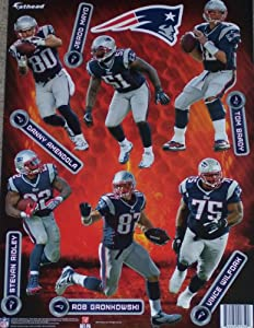 New England Patriots 2014 FATHEAD Team Set of 13 Official NFL Vinyl Wall Graphics (6... by Fathead