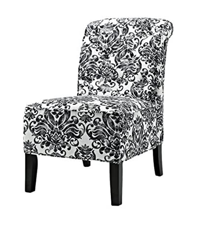 Westport Home Lorna Accent Chair, Onyx/Violet