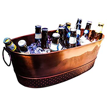 BREKX Colt Copper Finish Beverage Tub, Medium, Bronze