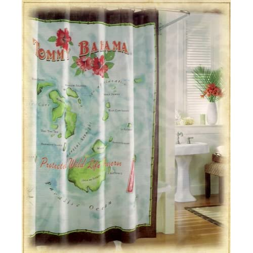 Tommy Bahama Postcards Shower Curtain