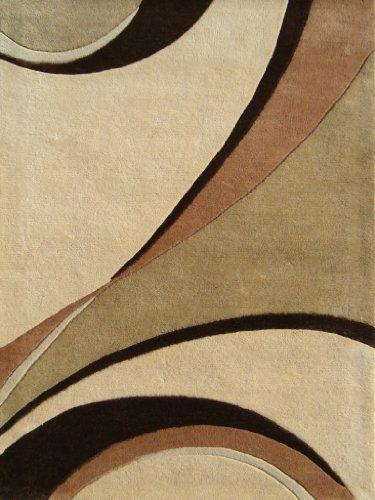 ZnZ Rugs Gallery 21013-6x9 Handmade New Zealand Blend Wool Rug, 6 by 9-Feet, Beige