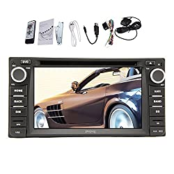 See Pupug In Dash Car GPS Navigation Head Unit for Universal Toyota 6.2 Inch Double Din Car DVD Player Stereo Radio Video Touch Screen TV+SD Map Ready Details