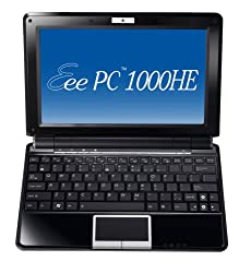 ASUS Eee PC 1000HE 10.1-Inch Black Netbook - 9.5 Hour Battery Life