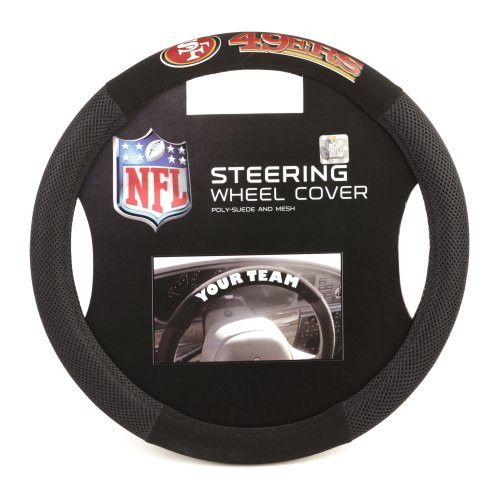 NFL San Francisco 49Ers Poly-Suede Steering Wheel Cover from Fremont Die
