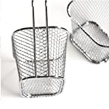 Mikey Store Skimmer Strainer with Handle, electroplate stainless steel Mini Frying net square block