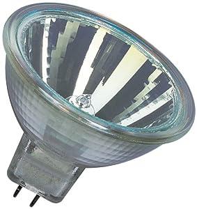 Osram 10-er Set Decostar 51s 12 Volt 20 Watt Sockel Gu5,3 36 Halogenlampe mit Kaltlichtspiegelreflektor und Abdeckscheibe, Durchmesser 51 mm 44860WFL by Osram