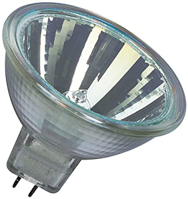 Osram Decostar 51s 44860WFL Halogen Lamp with Cold Mirror Reflectors and Cover Disk / 12 Volt 20 Watt / Socket Gu5.3 36 / Diameter 51 mm / Set of 10