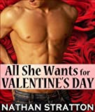 All She Wants for Valentines Day: A Contemporary Erotic Romance Story (All She Wants #3)