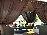 Outdoor Gazebo Patio Drapes.. Rich Brown 84