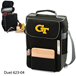 Georgia Tech Yellow Jackets Duet Insulated Wine and Cheese Tote - Black w/Digital Print
