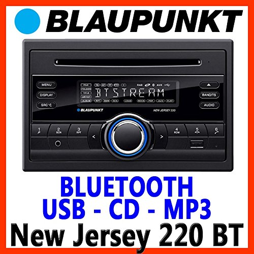 BLAUPUNKT-New-Jersey-220-BT-2-DIN-UKWMP3CD-Tuner-Front-USB-und-AUX-in-grosses-Display-3-Band-Equalizer-4-Kanal-Vorverstrker-4x50W