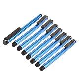 携帯電話用の8個のソフトティップダークブルースクリーンタッチスタイラスペン