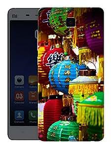 "Humor Gang Paper Lantern Pattern Printed Designer Mobile Back Cover For ""Xiaomi Redmi Mi4"" (3D, Matte, Premium Quality Snap On Case)"