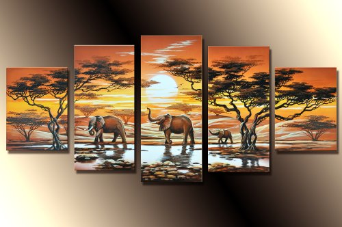 Barato! Elefantes M1- 5 Imagen aprox.150x70 Cuadros en ...