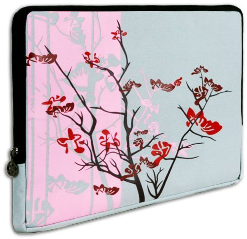 Pink Sparse Floral Carrying Case Sleeve for Apple iPad Wifi / 3G 16GB, 32GB, 64GB from MyGift