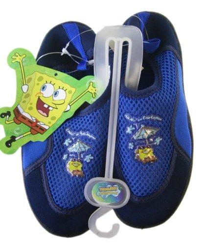 Cheap Blue Spongebob Squarepants Aqua Socks (Size 12) – Size 12 Boys Water Shoes (aqua-bl-12sb-wc-bx43)