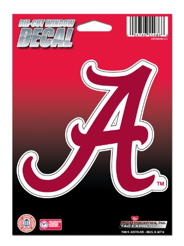 NCAA Alabama Crimson Tide Die Cut Vinyl Decal with Backing (Alabama Crimson Tide Window Decal compare prices)