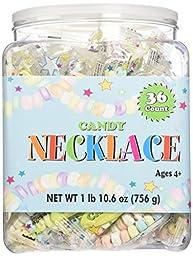 CANDY NECKLACE 36 count Tub,net wt 1 lb(10.6 oz)